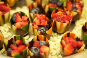 Chocolate Tulip Cups with Fresh Berries